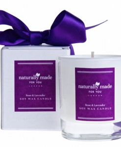 Rose & Lavender Soy Wax Candle
